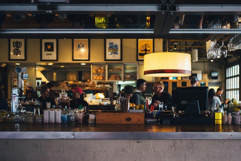 restaurant, bar, counter